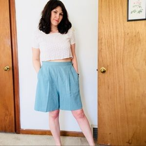 Vintage High Waisted Culotte Shorts